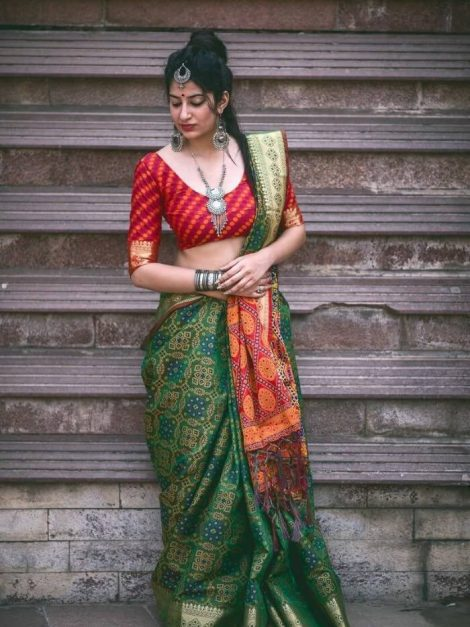 Beautiful Banarasi patola saree 1