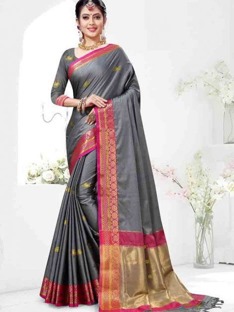 Splendorous Cotton Silk Saree