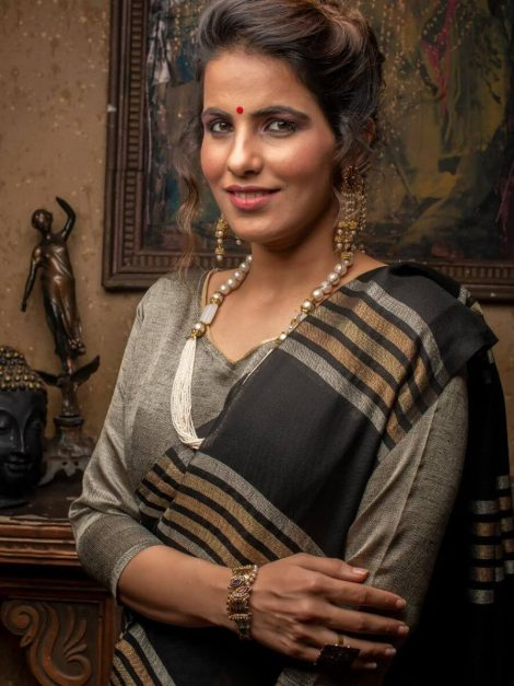 New Linen Saree Collection-ad102