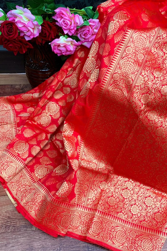 Original Golden Zari Saree
