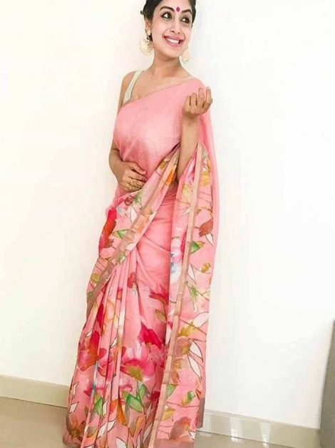 Floral print saree blouse 1