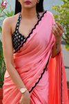 Beautiful Satin Chiffon Saree