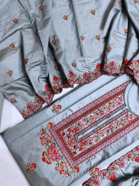 Semi modal Embroidery Suit