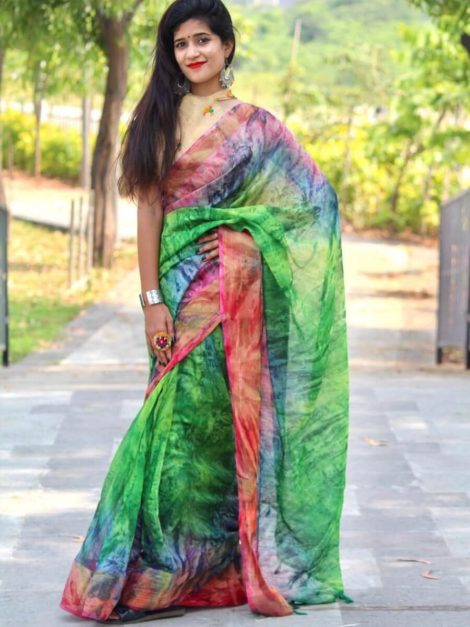 Soft cotton silk saree-kt07