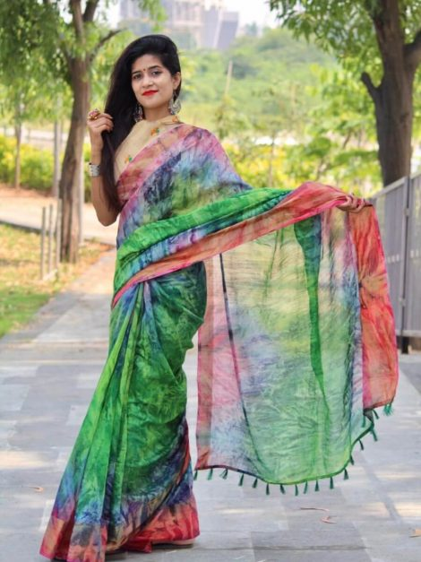 Soft cotton silk saree-kt07.