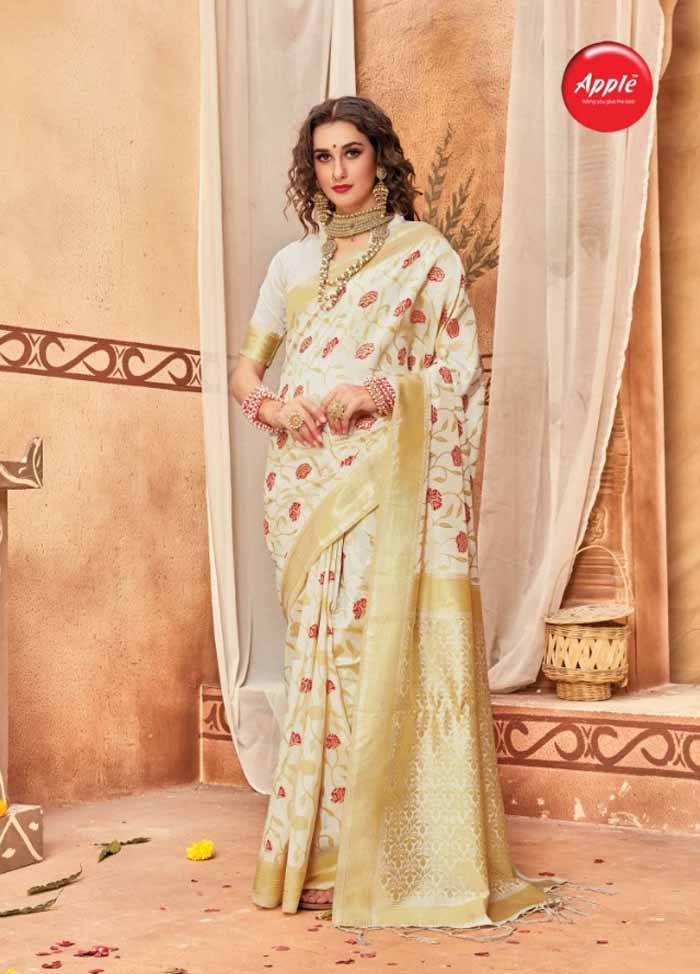 Pooja silk saree by Apple