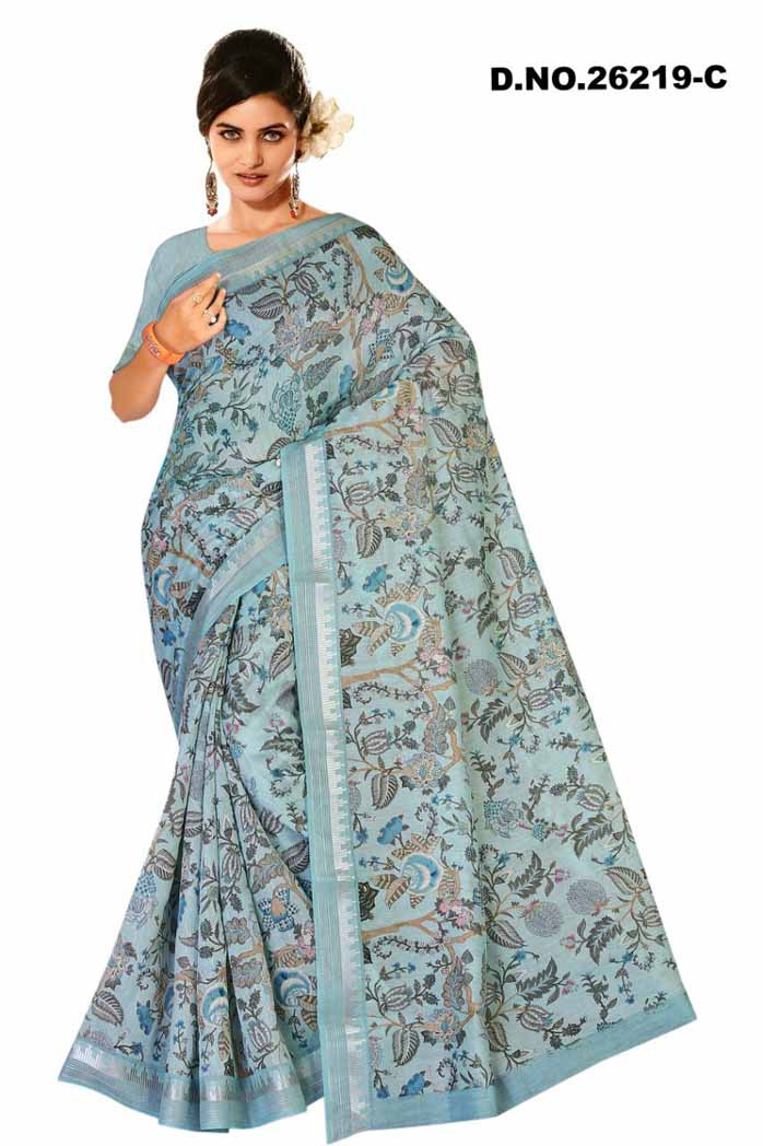 kanchana Linen cotton Saree