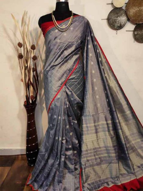 Intricate Raw Banglori Silk Saree