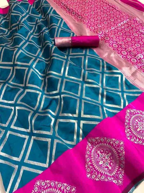 Fantastic Lichi Silk Saree