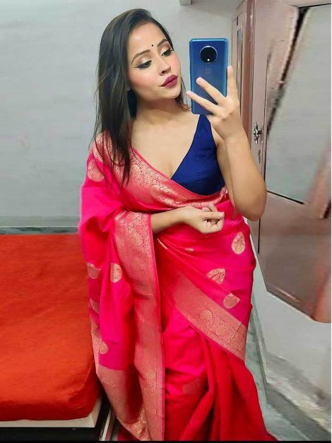 Pink Soft Silk Saree -me25a