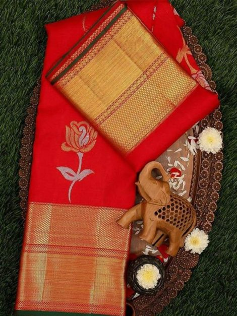 Red Kanchipuram Sarees-gp10a