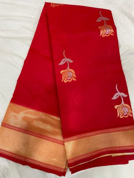 Red Kanchipuram Sareesb