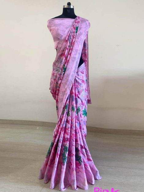 Satin Georgette Saree-nd01c