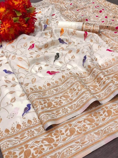 Soft cotton Handloom saree-rf10d