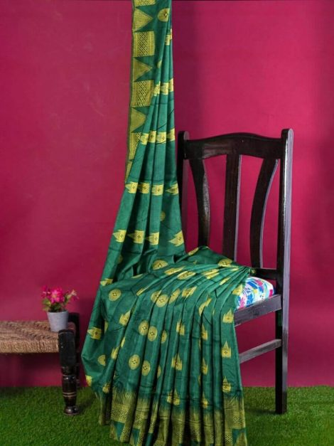 Trendy Raw Silk Saree-me22a