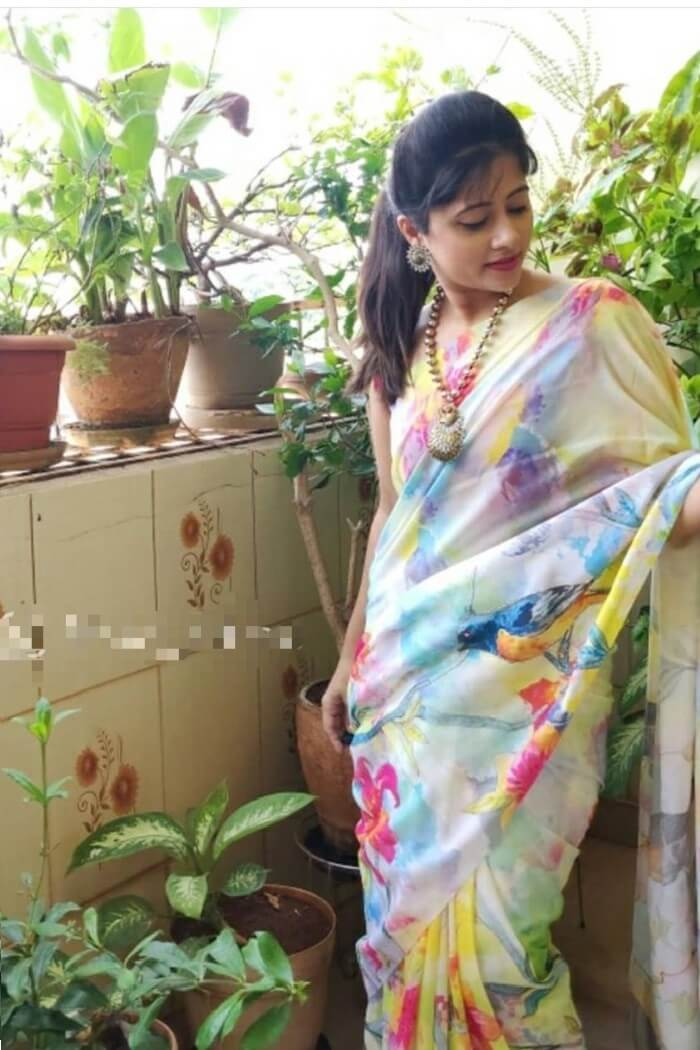 Multicolor Soft Silk Saree -mf54b