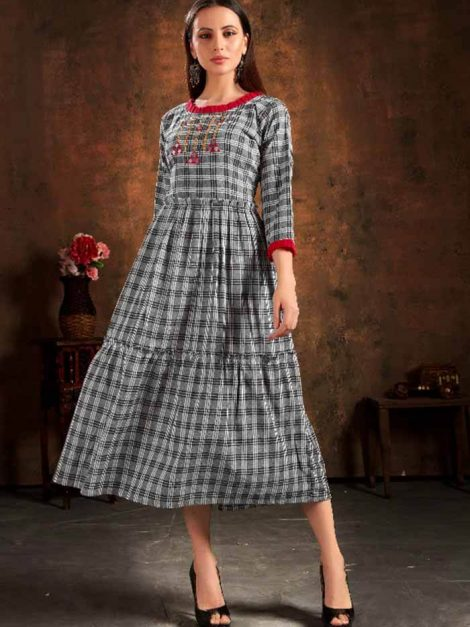 Adorable Pure Cotton Fully Stitched Kurti-Fg02a