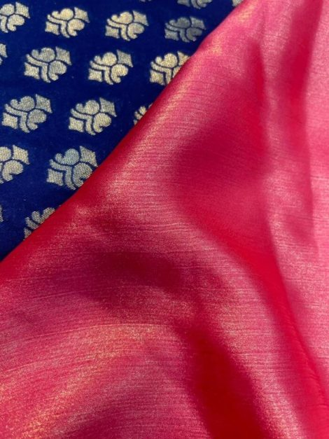 Glowing Plain Saree Pink Color With Heavy Blouse-ko20dba